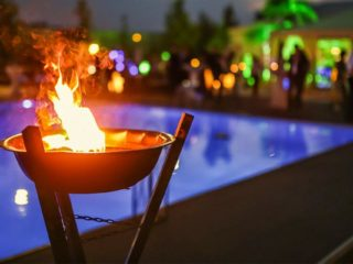 Fire Features: Light Up Your Pool Area